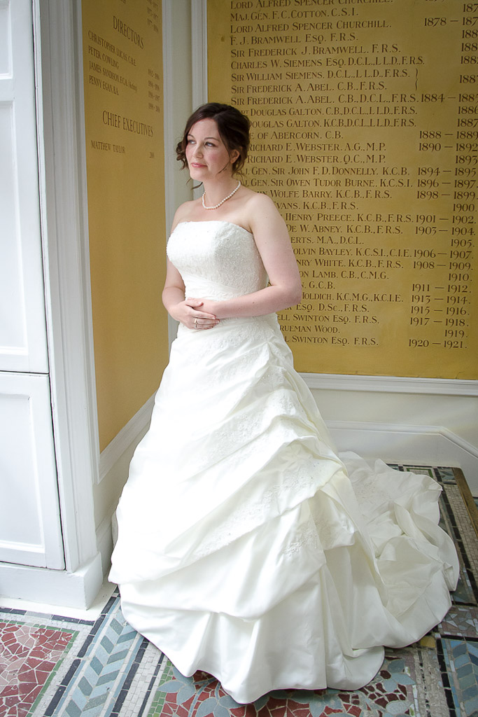 Full length bridal dress photo wearing Justin Alexander