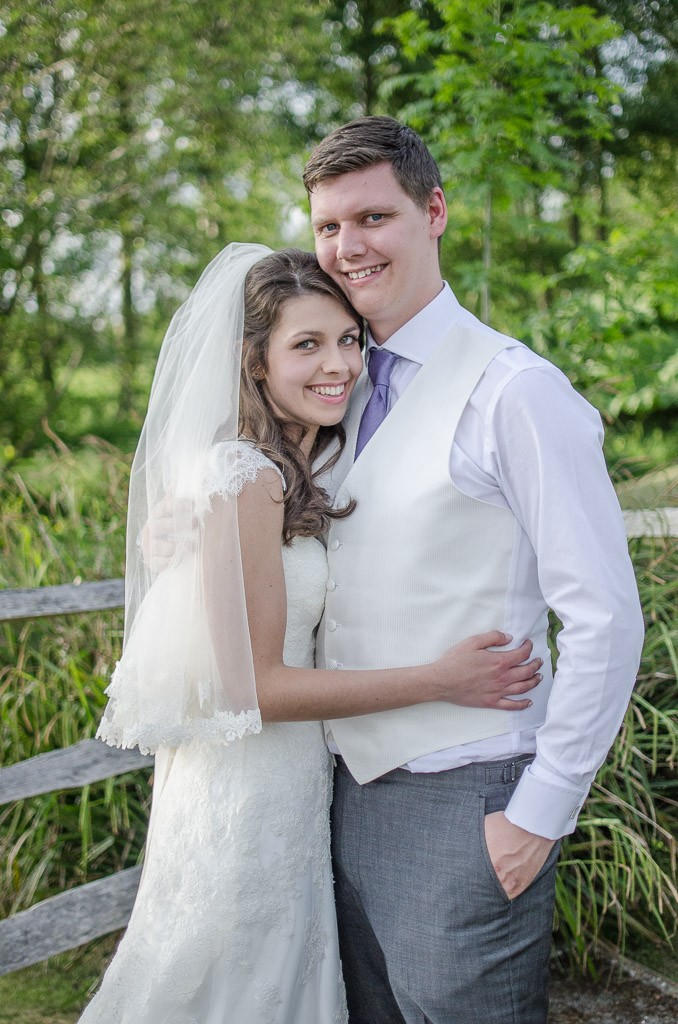 Bride and groom at an Oxted Wedding