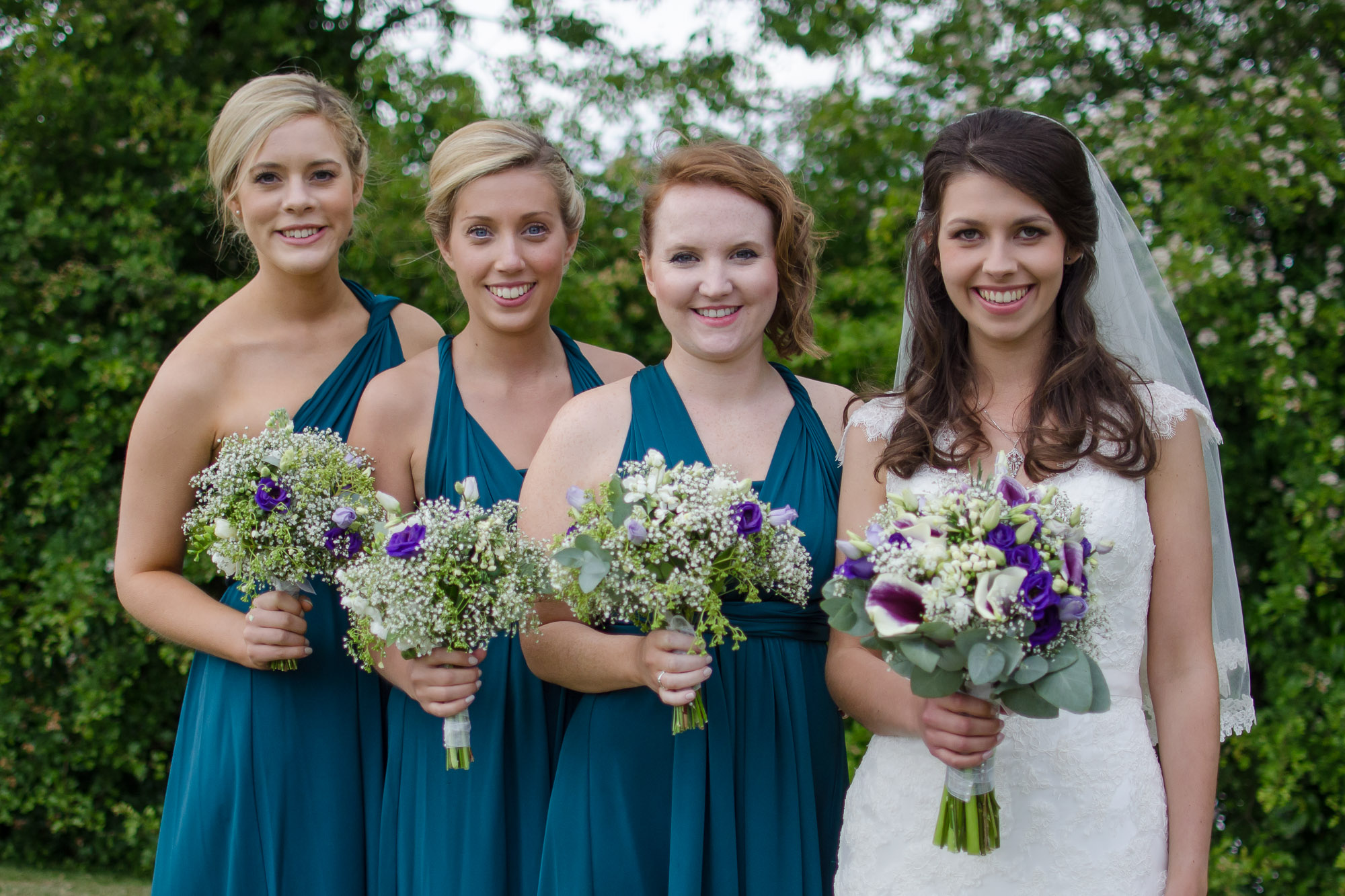 Bride and bridesmaids in Oxted