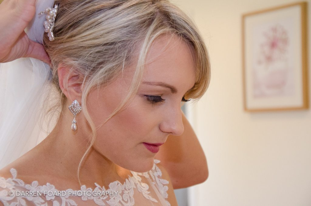 Bridal prep in the Mill Cottage at Coltsford Mill