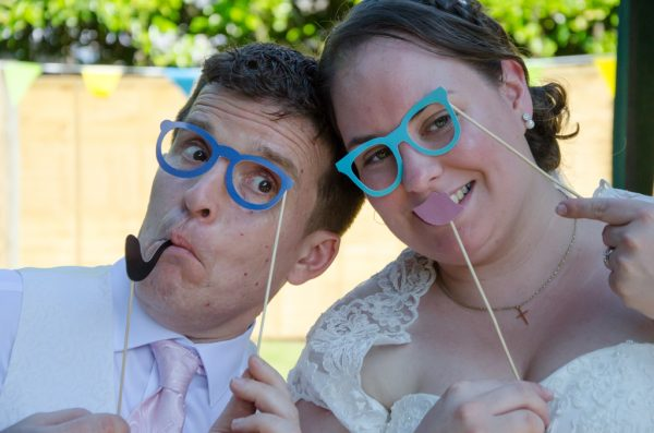 Fun faces at Oxted wedding