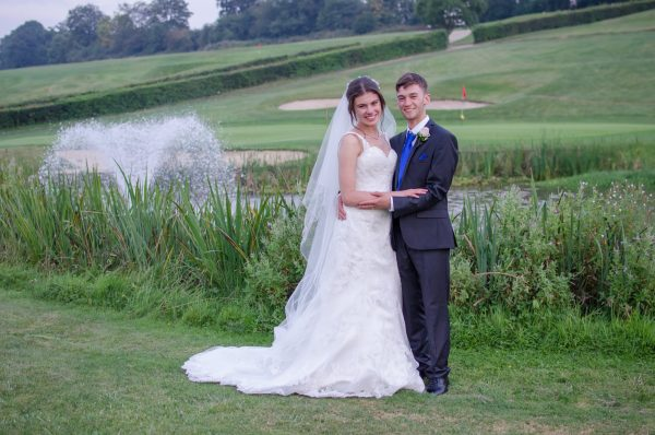 Bride and groom at Surrey National Golf Club