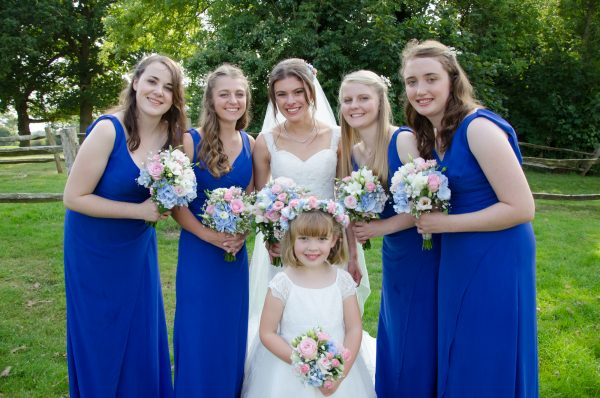 Bride and her bridesmaids at Surrey National Golf Club